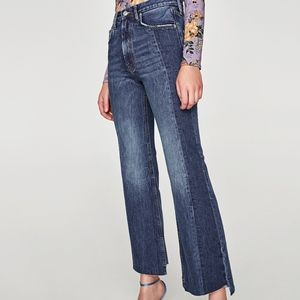 Zara Real Slim Flare Cropped Jeans Size 6